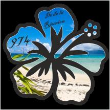 Stickers Réunion Hibiscus Réunion