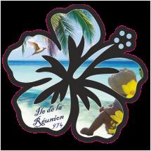 Stickers Réunion Hibiscus camille