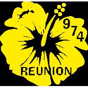 Stickers Réunion Hibiscus 974