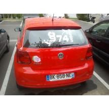 stickers pour vitre arrière de voiture