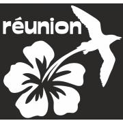 Stickers Réunion hibiscus paille en queue